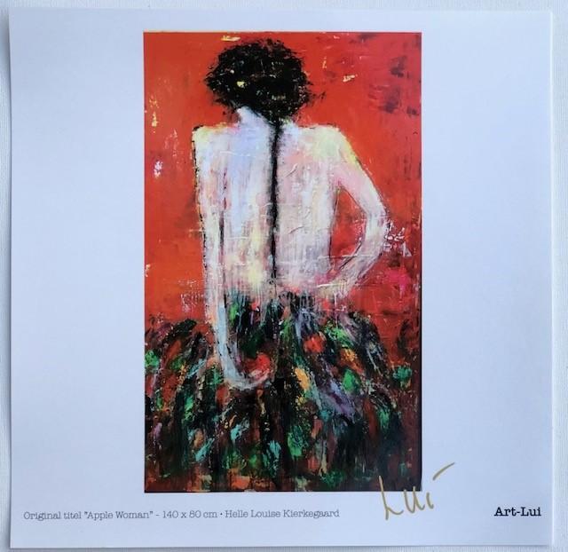 Apple Woman Art Print